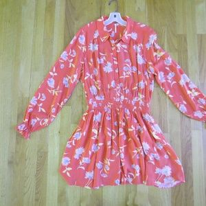 Free People Dress Size M Button Front